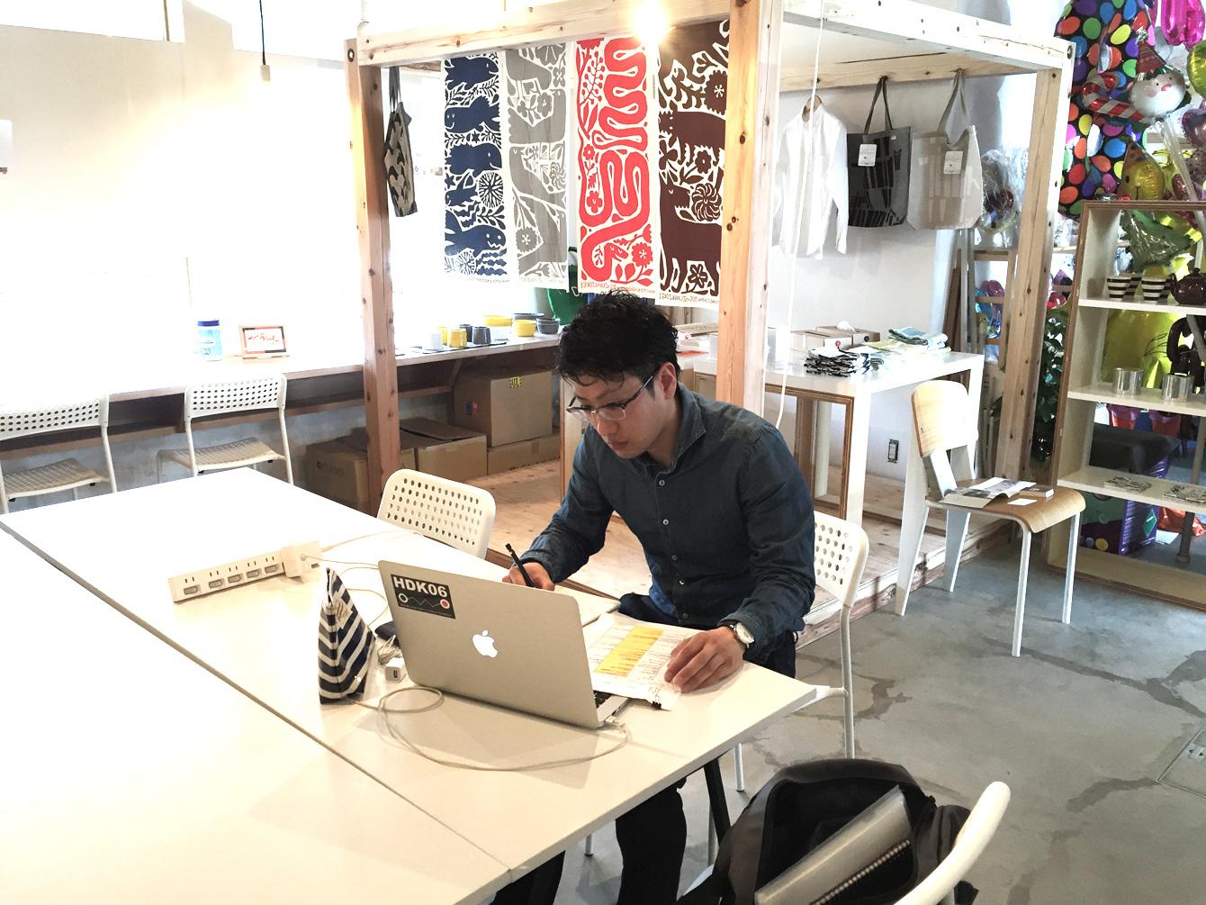 この日は、「神山塾」を日本仕事百貨に掲載する内容を考える。