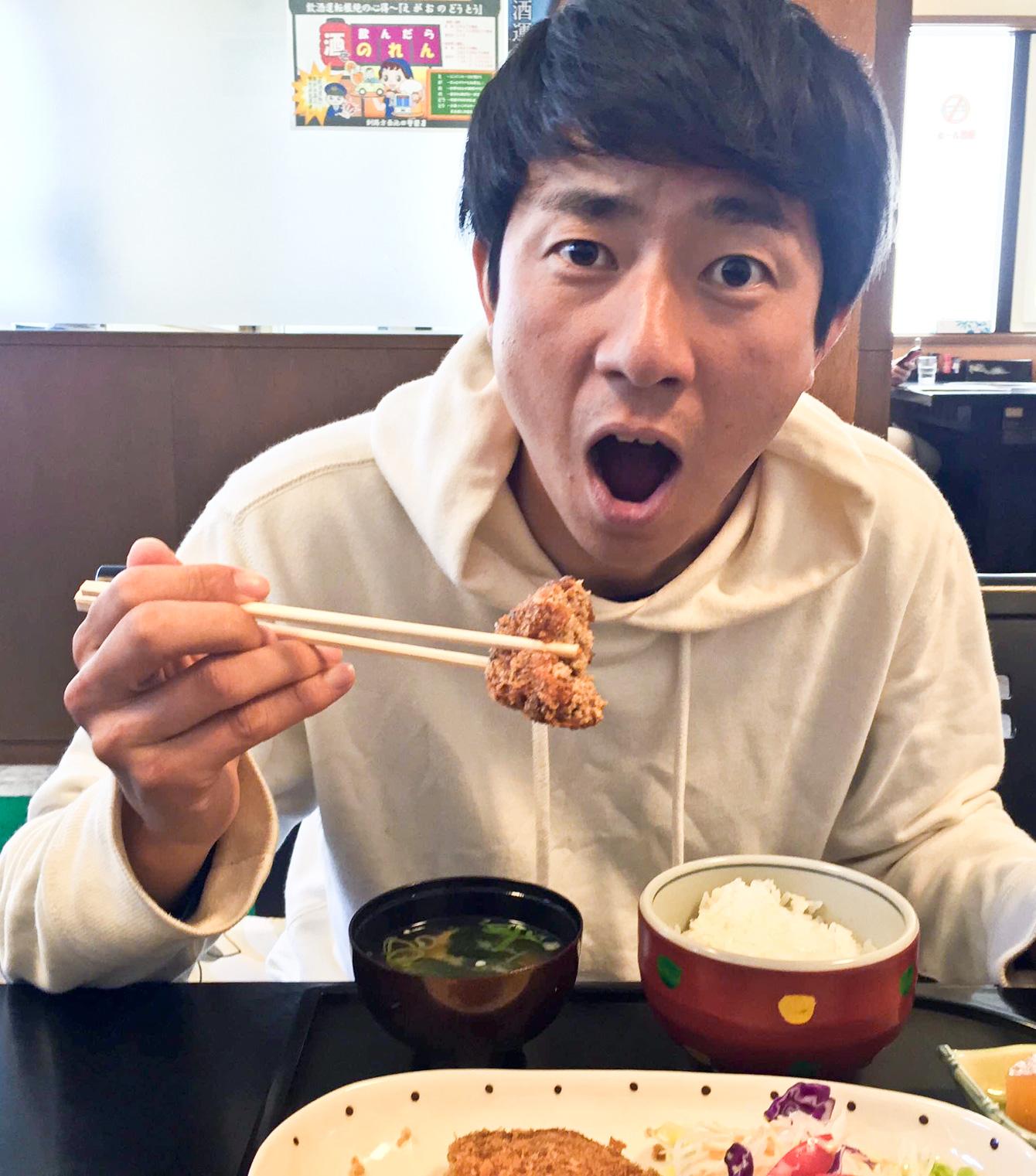 浦幌町民を魅了する食の館てんまさんのメンチカツ定食。