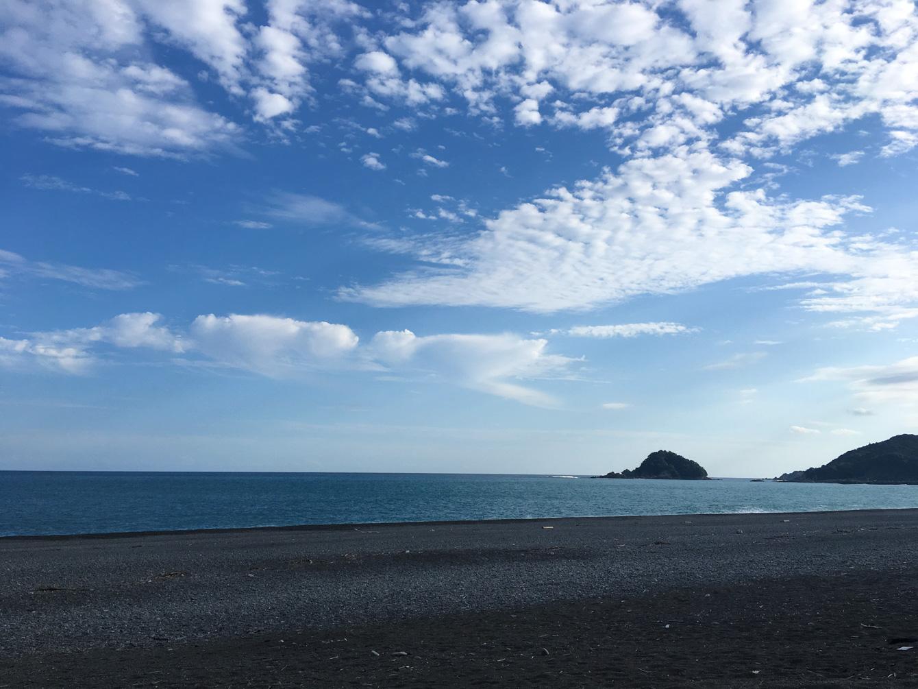 水平線が何処までも広がる大海原。