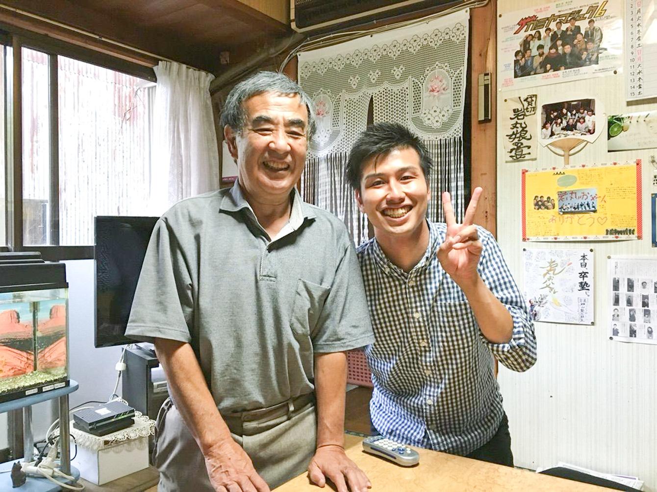 """神山塾生とっては""""神山のお父さん""""でもある、岩丸さん。"""