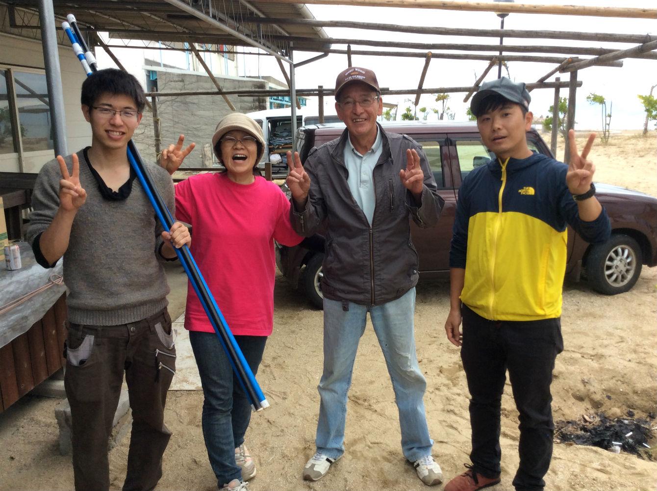 KATALOG MAGAZINEで取材させていただいた大川村の川上さんたち。これまで全回参加してくれている。