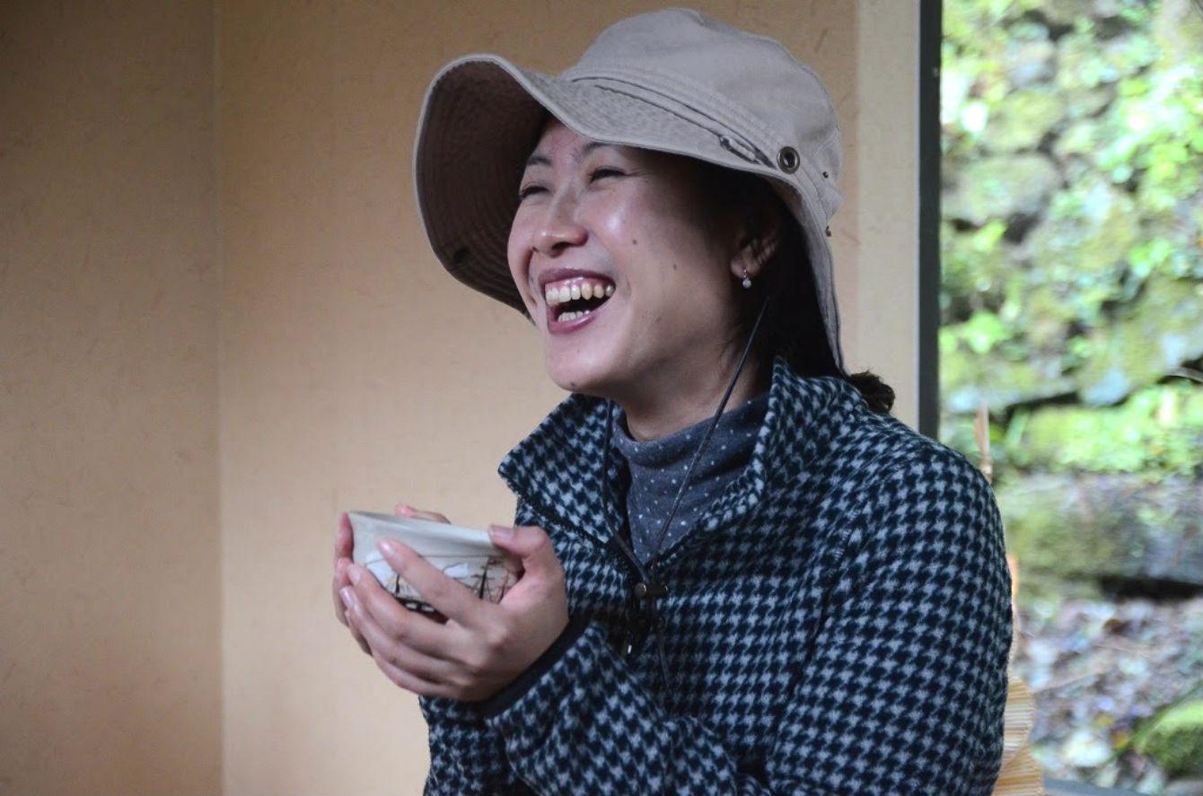 お抹茶を頂いて笑顔が溢れるとは、素敵な時間です。