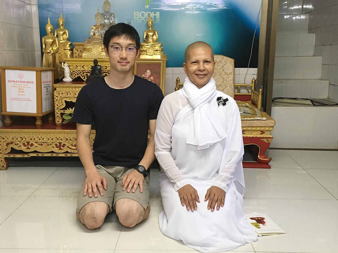 瞑想修行体験に参加した時の写真。