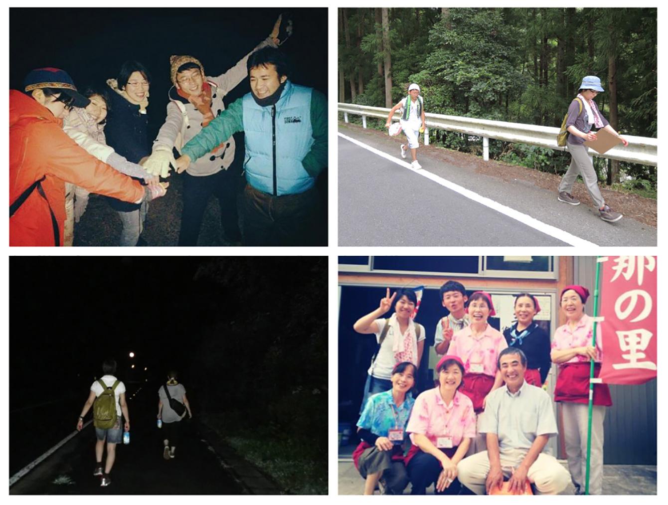 同期の伊藤君と共同企画で行ったスモールプロジェクト、「神山歩行祭」。プレイベントも合わせて神山と徳島間を3回歩行した。ただ歩くだけなのに予想以上に新たな発見がある。仲間と共にやりたいことに思い切りチャレンジできることも、神山塾最大の醍醐味だと思う。