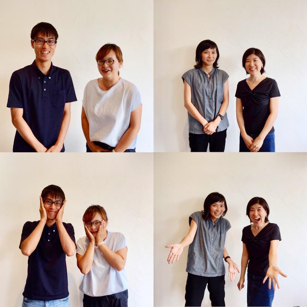 KATALOGコース塾生 ②(左から) 和田さん、松岡さん、左治木さん、宮前さん。