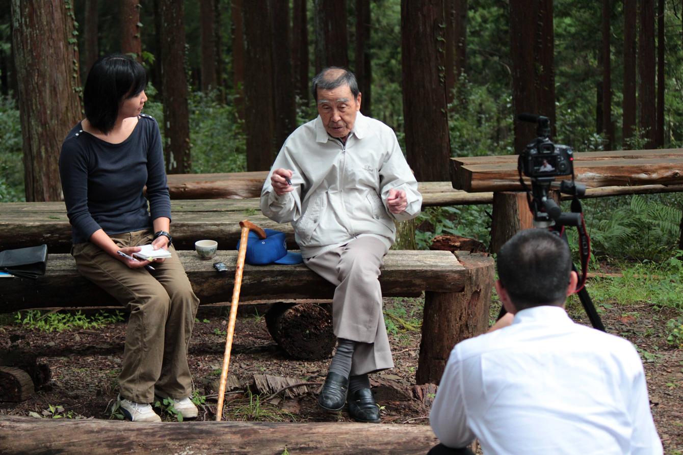 「ある日、森で」の撮影の様子。