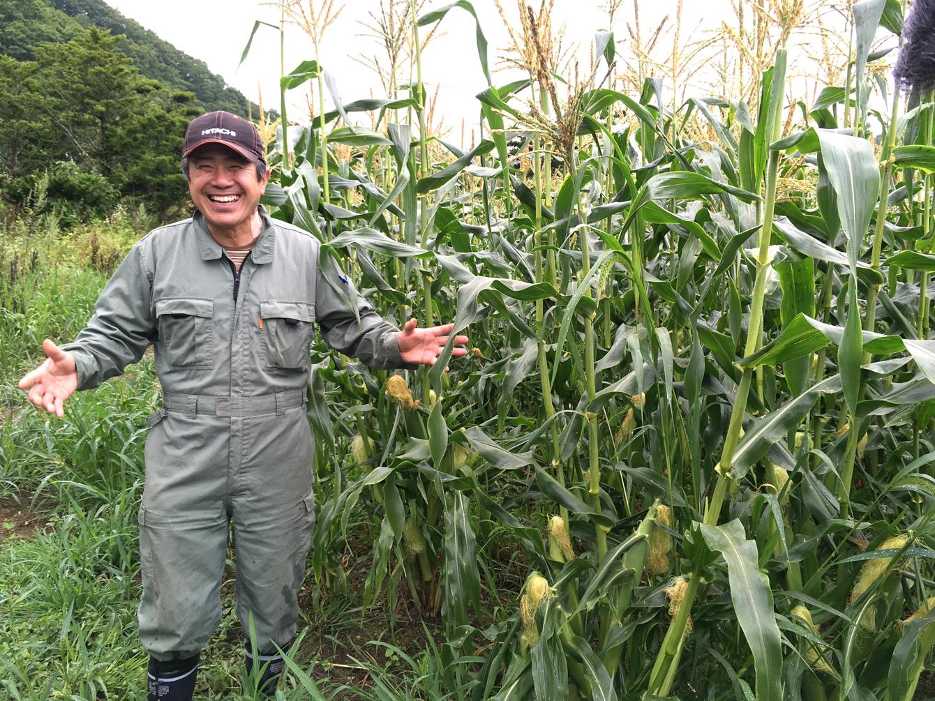 浦幌町で農業を営む元木さん。